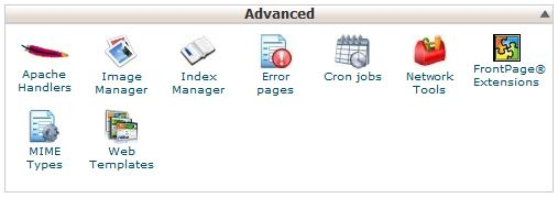 advanced tab on cpanel